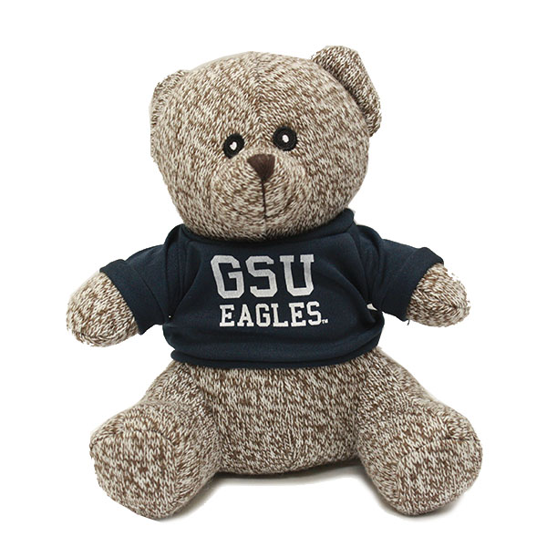 Image For Brown Knitted GSU Bear w/Eagles