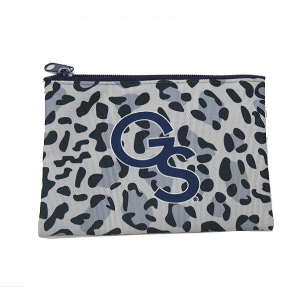 Image For Blue Leopard Zipper Pouch w/GS
