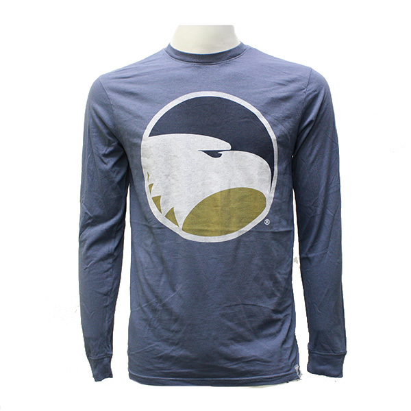 Image For Blue Long Sleeve T-Shirt w/Academic Logo