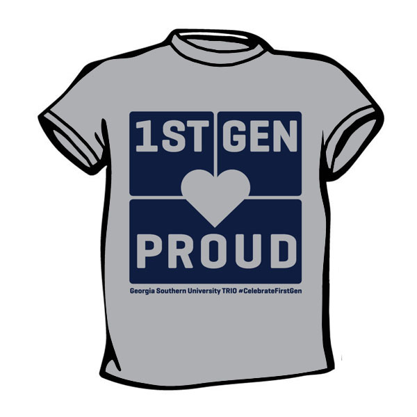 "Cover Image For 1Pre-Orders ""1st Generation College Students"" Gray T-shirt"