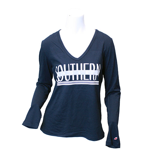 "Image For League Navy Ladies ""Southern"" Long Sleeve T-Shirt"