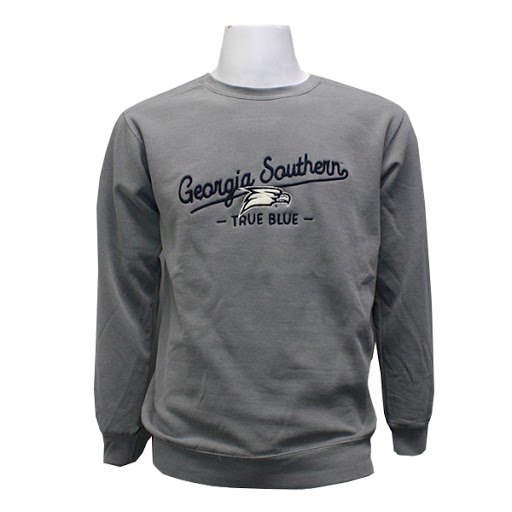 Image For Comfort Colors Gray GASO Crewneck Sweater w/ Eagle Head