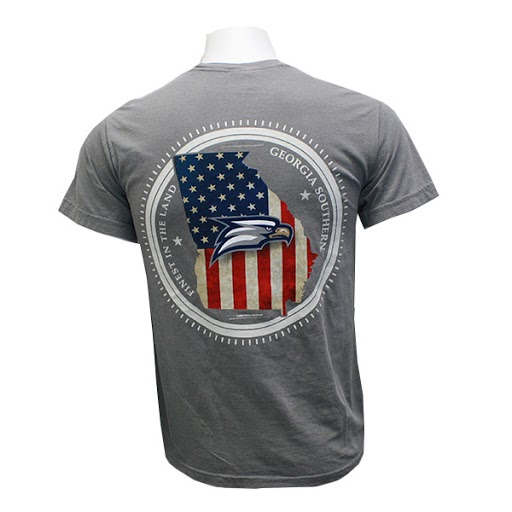 Image For Comfort Colors Gray GASO T-shirt w/ Eagle Head