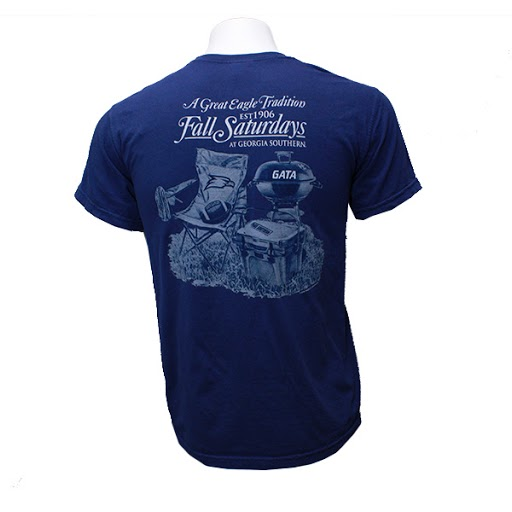 Image For Comfort Colors Navy Fall Saturdays GASO T-shirt