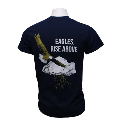 "Image For Navy ""Eagles Rise Above"" T-shirt w/Academic logo"
