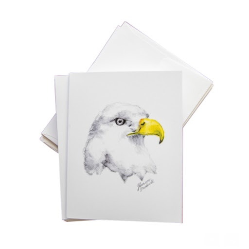 Image For Eagle Portrait Greeting Card- by Harrison Broadwell
