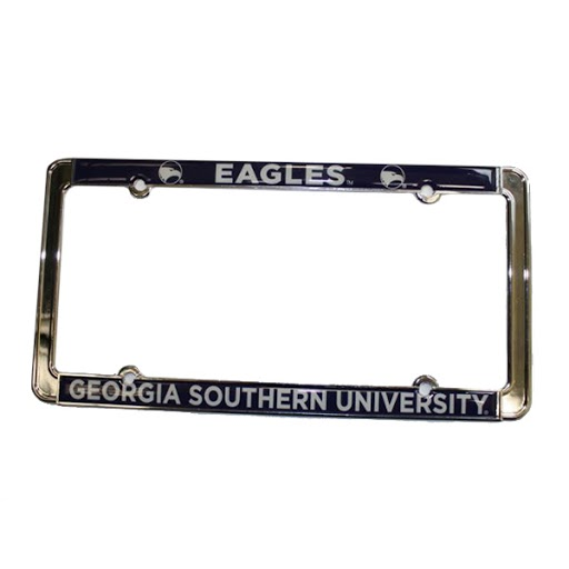 Image For Silver GASO Eagles Car Tag Frame