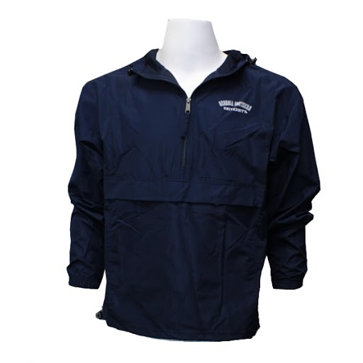 Image For Champion Navy GASO 1/4 Zip Windbreaker