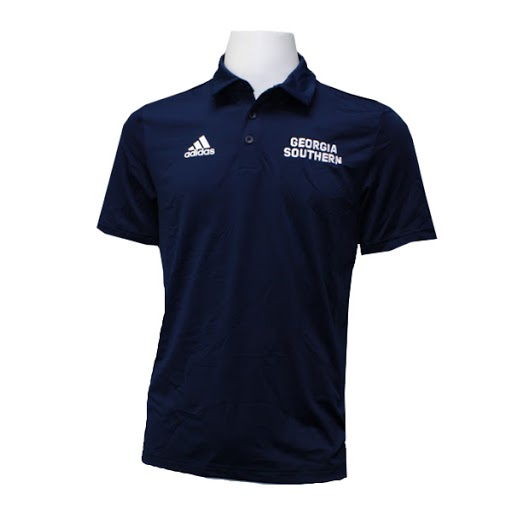 Image For Adidas Navy GASO Polo w/Eagle Head logo on back