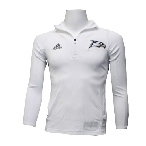 Image For Adidas White ¼ Zip Pullover w/Eagle Head/Eagles logo