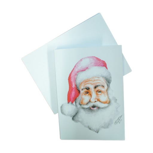 Image For Santa Portrait Christmas Card by Harrison Broadwell