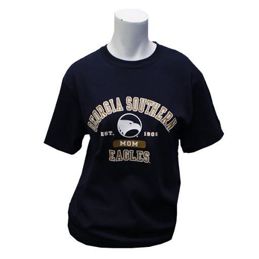 Image For Champion Navy Est. 1906 GASO Eagles Mom T-shirt