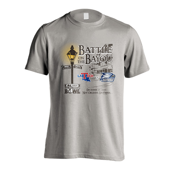 Cover Image For New Orleans Bowl Gray T-Shirt