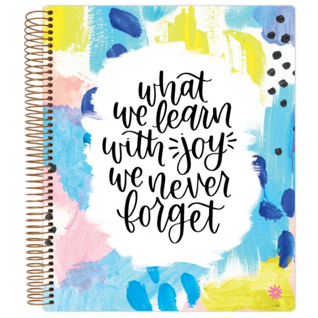 "Image For Bloom 9""X11"" ""Learn With Joy"" Planner"