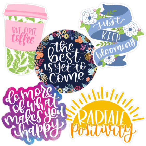 Image For Positivity Sticker 5 Pack