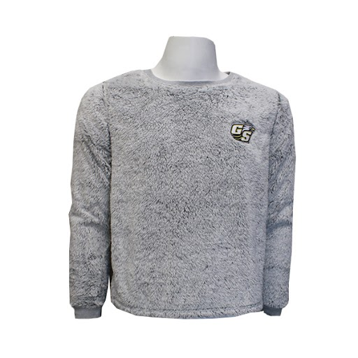 Image For Gray Fuzzy Pullover w/Secondary Logo  LG