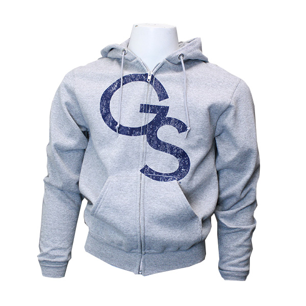 Image For Gray Zip Hoodie w/GS