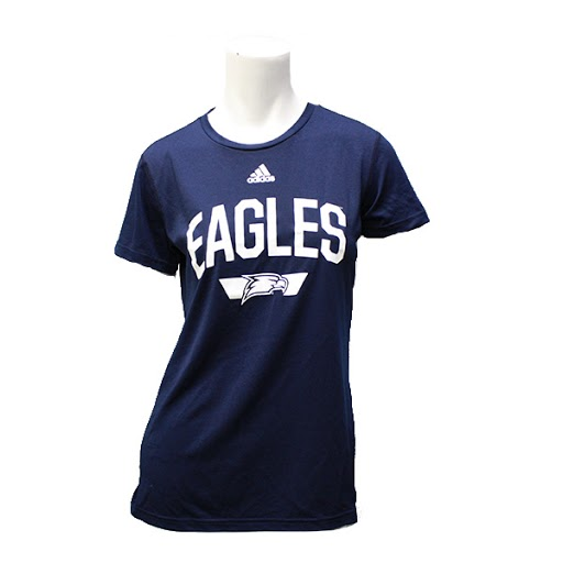 Image For Adidas Navy Ladies Eagles Shirt w/ Eagle Head logo