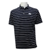 Cover Image for Divots Blue/Gold Thin Striped Polo w/Athletic logo